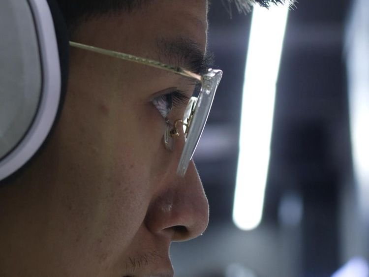 There are fears that playing video games is behind a rise in myopia in China
