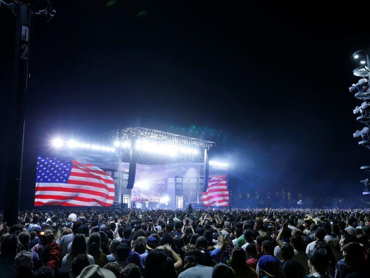 Eminem performing at Coachella in April