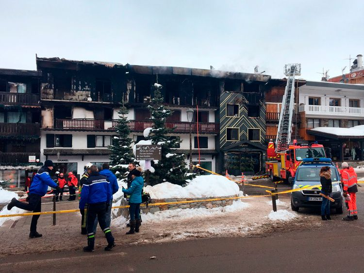 Two killed in fire in upmarket French ski resort