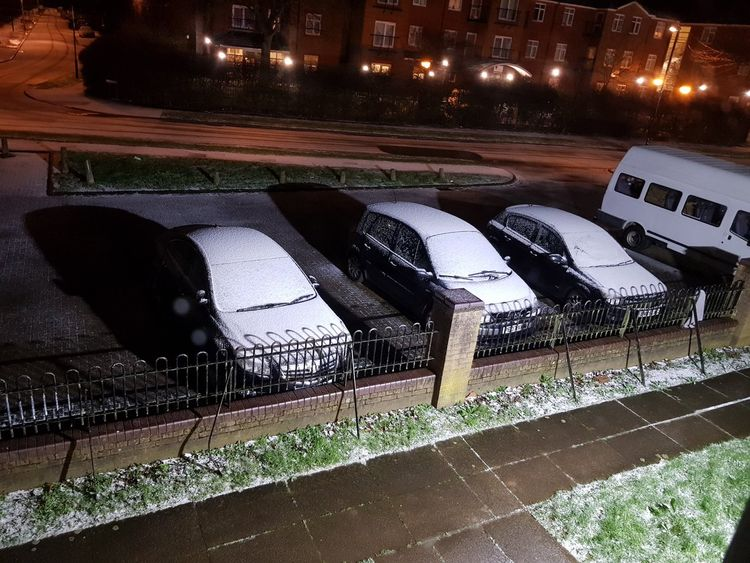 Snowfall in Coventry. Pic: Gordon Coyle