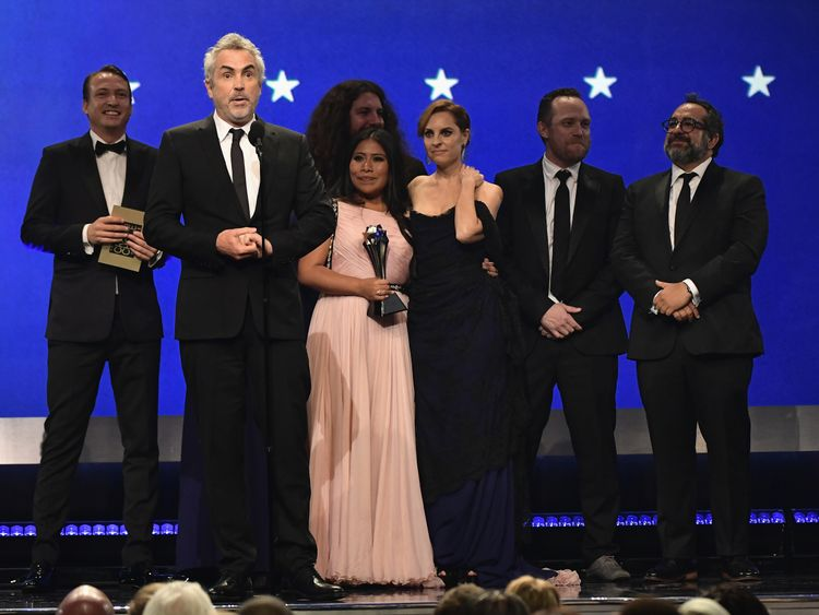 Roma onstage during the 24th annual Critics' Choice Awards at Barker Hangar on January 13, 2019 in Santa Monica, California
