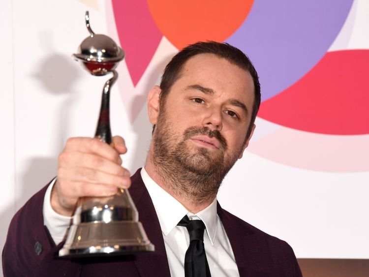 Danny Dyer thanked his mentor Harold Pinter in his speech