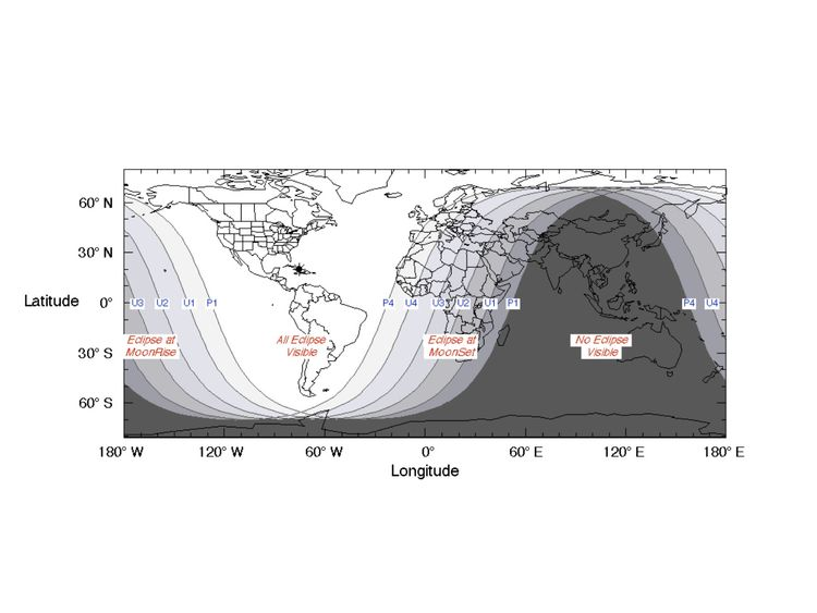 Worldwide visibility for the lunar eclipse. Pic: NASA