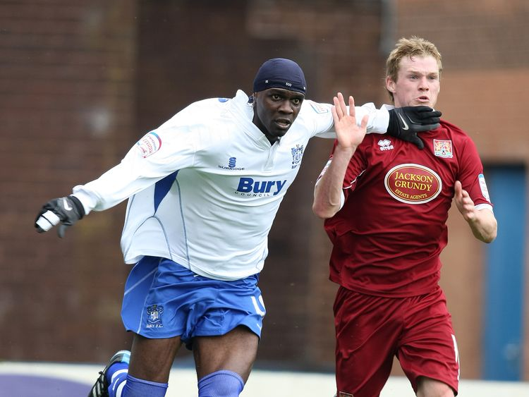 Efe Sodje (L) was given 18 months in jail