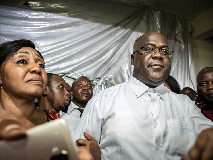 Felix Tshisekedi celebrated the result of the election