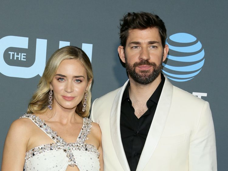 Emily Blunt and husband John Krasinski at the Critics Choice Awards 2019