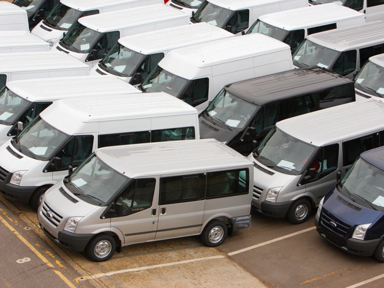 Ford Transit vans at their factory in Southampton, Hampshire where 125 vans roll off the production line each day. Production has halved in the last year with 500 staff being made redundant due to reduced demand in the market. However, the iconic vehicle still accounts for one in three vans sold in the UK. PRESS ASSOCIATION Photo. Picture date: Wednesday October 13, 2010. Photo credit should read: Chris Ison/PA Wire.