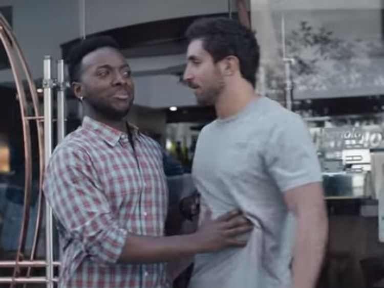 The film shows men stepping in to stop others behaving inappropriately. Pic: Gillette