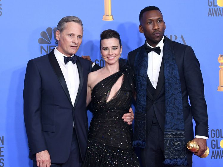 Viggo Mortensen, Linda Cardellini, and Mahershala Ali: Green Book was one of the big winners at the 76th Annual Golden Globe Awards at The Beverly Hilton Hotel