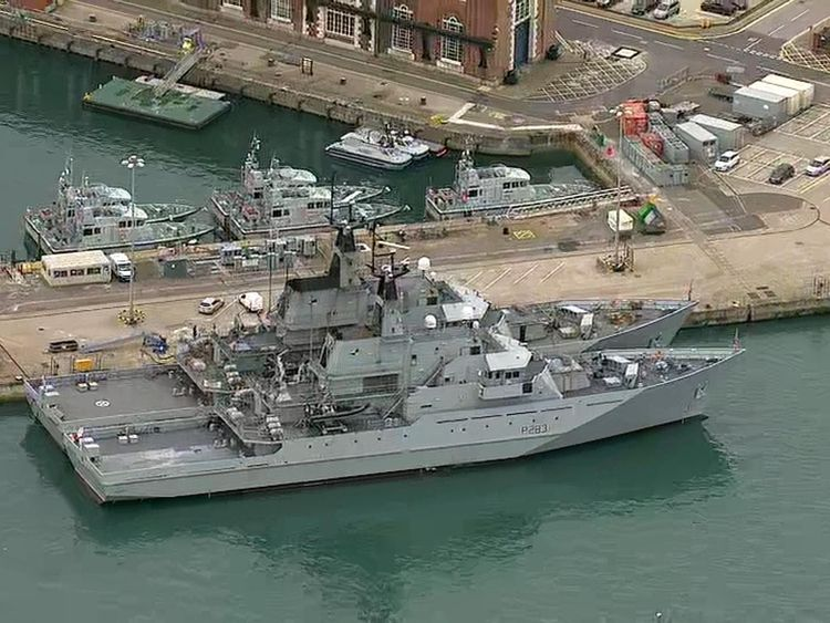 Warship HMS Mersey deployed to intercept migrant boats in Channel