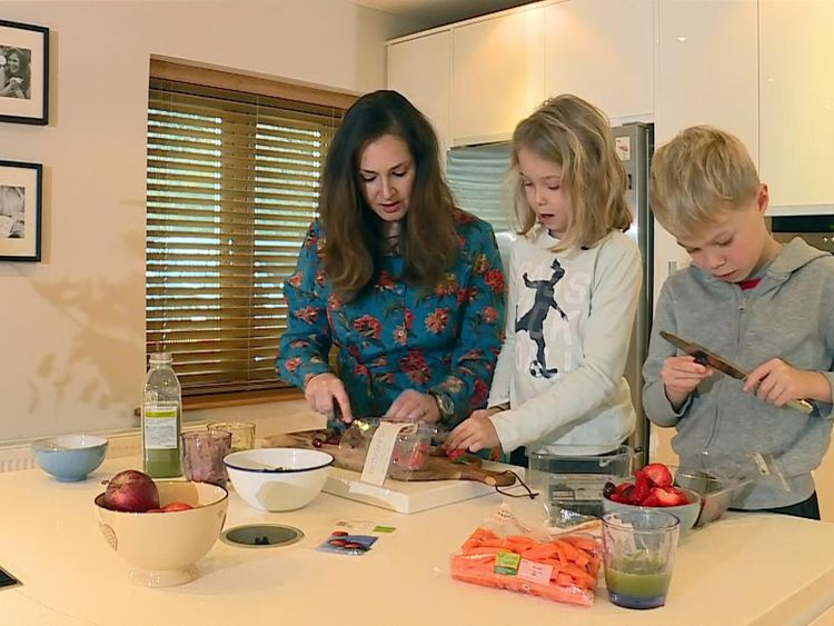 Jo Wimble-Groves and her two children