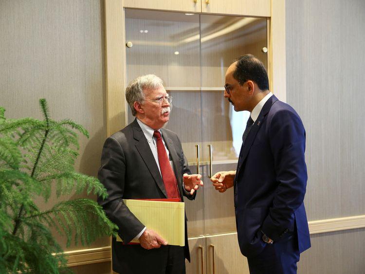 John Bolton held talks with Ibrahim Kalin in Turkish capital Ankara