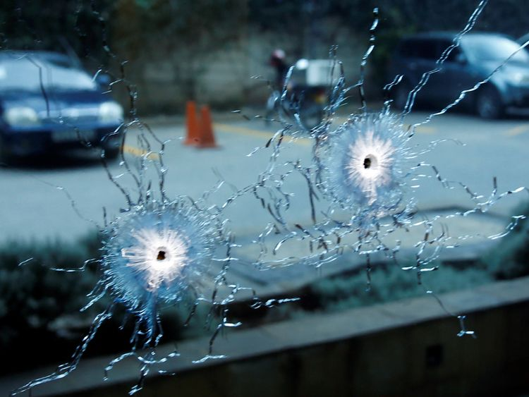 Police were said to be exchanging gunfire with the attackers