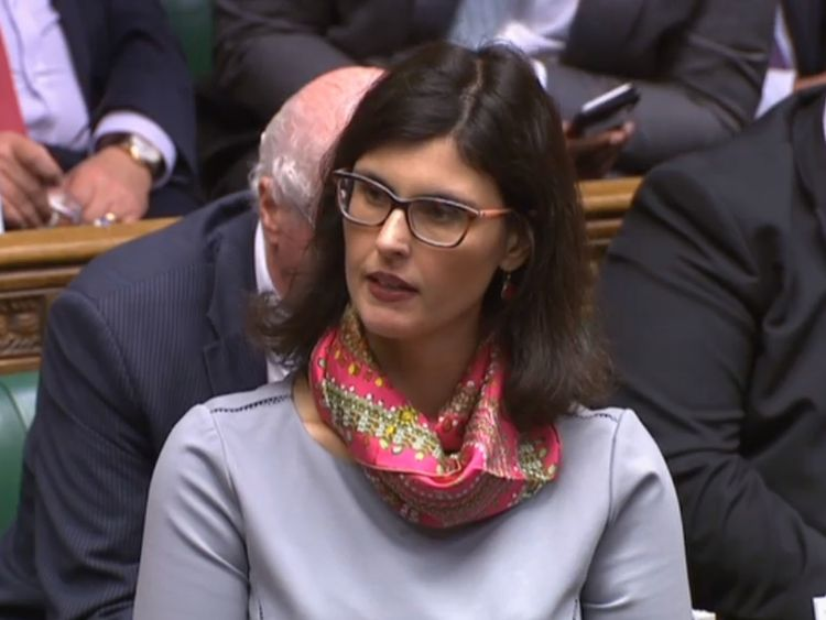 Liberal Democrat MP Layla Moran raises a point of order following PMQs