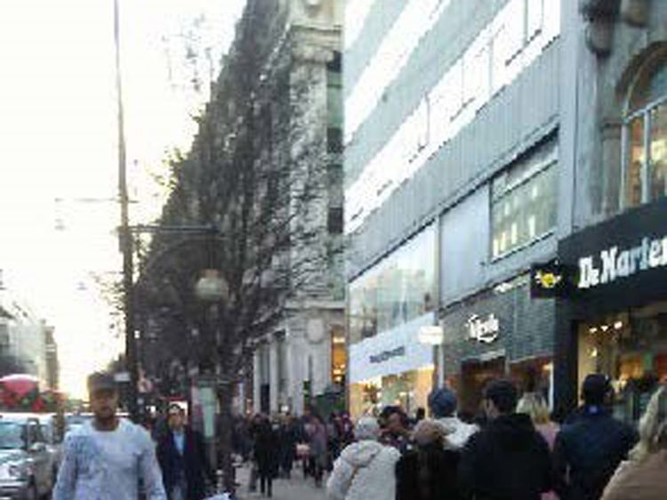 An image found on Lewis Ludlow's phone of Oxford Street