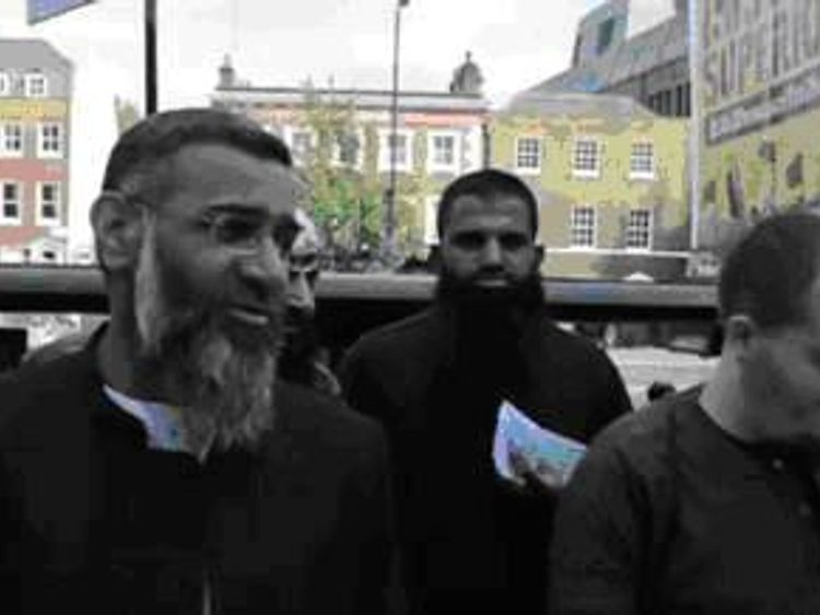 Lewis Ludlow with Anjem Choudary