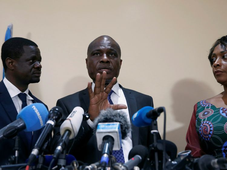 Opposition candidate Martin Fayulu called the result an  'electoral coup'