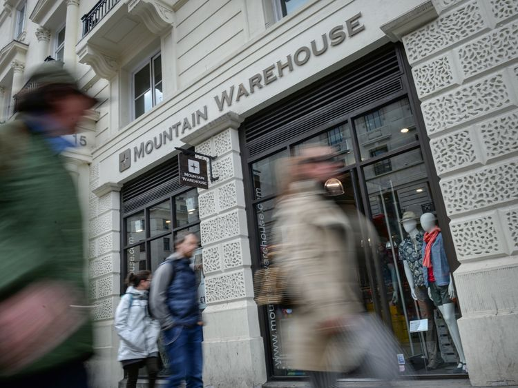Mountain Warehouse said it grew sales despite a relatively warm run-up to the festive sales season
