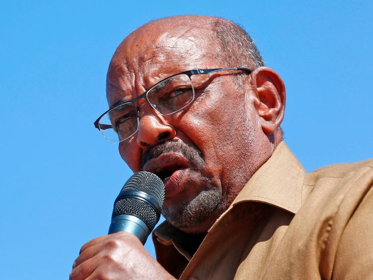 The president said he spoke against people who wanted to destroy Sudan