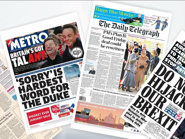 monday papers back pages