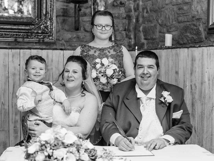 Mr Hughes on his wedding day in 2017. Pic: Shaun Hughes