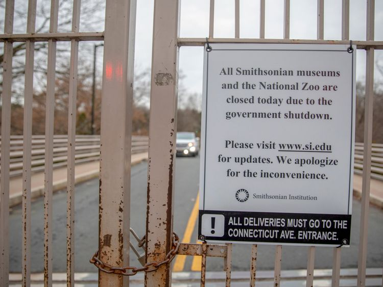Smithsonian National Zoo is closed to the public while the government is in partial shutdown