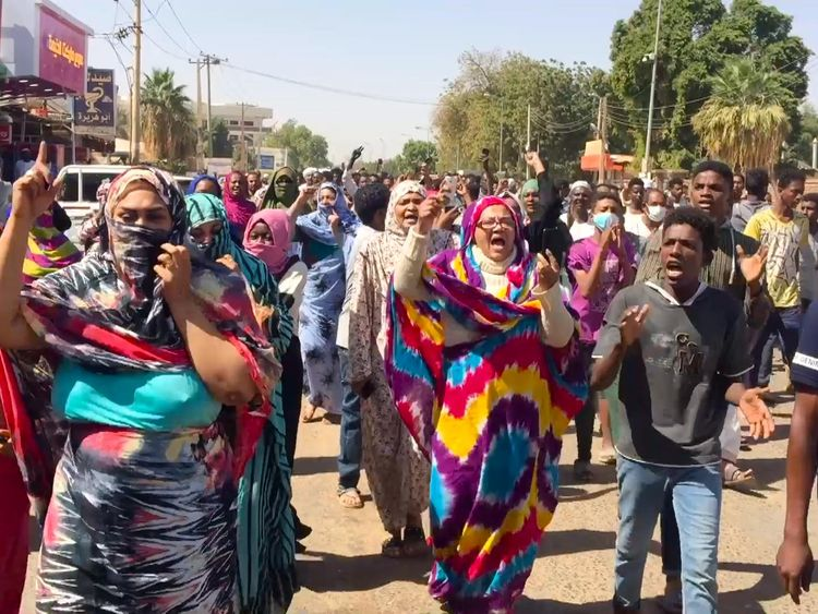 Doctor and child killed in Sudan protests as police break up march