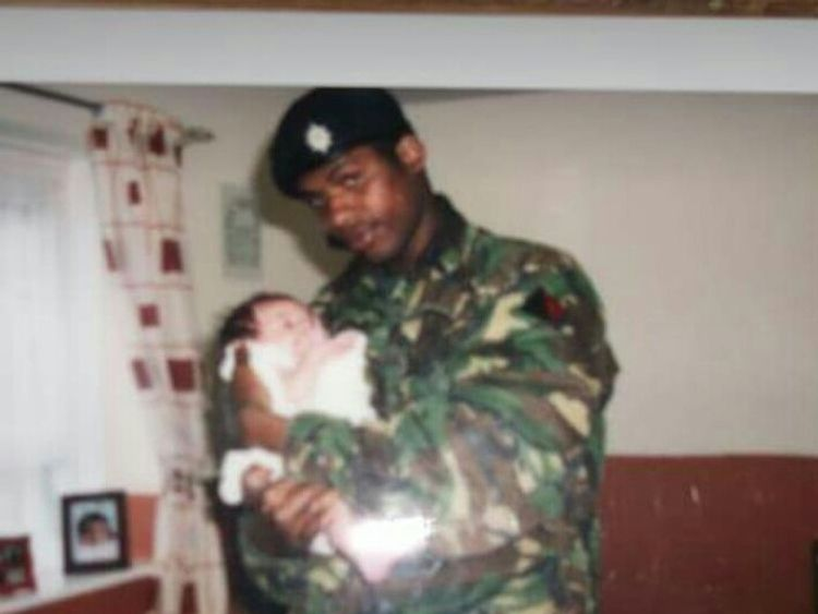 Mr Morgan arrived in the UK in 2003 and joined the army a year later