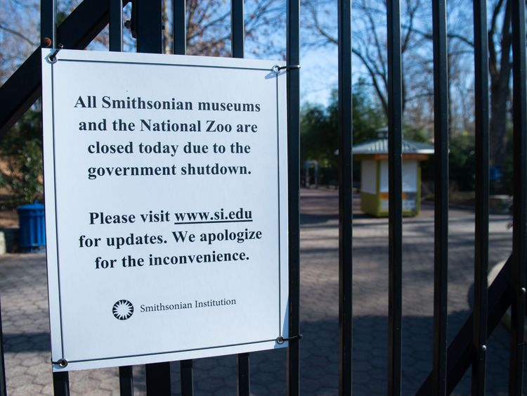 The Smithsonian National Zoo is closed because of the shutdown