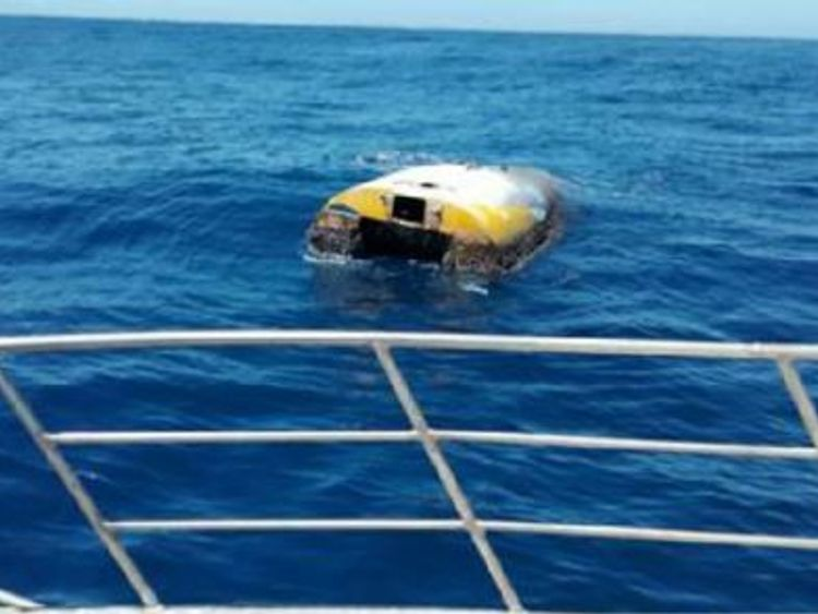 Ditched round-the-world yacht found after eight years