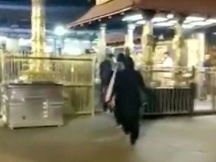 Video footage has shown the two women entering the Sabarimala temple