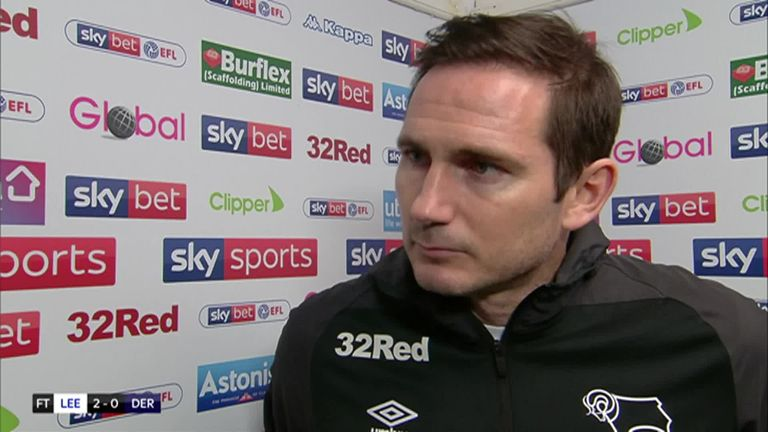 Derby boss Frank Lampard makes no excuses after 2-0 defeat to Leeds   Football News  