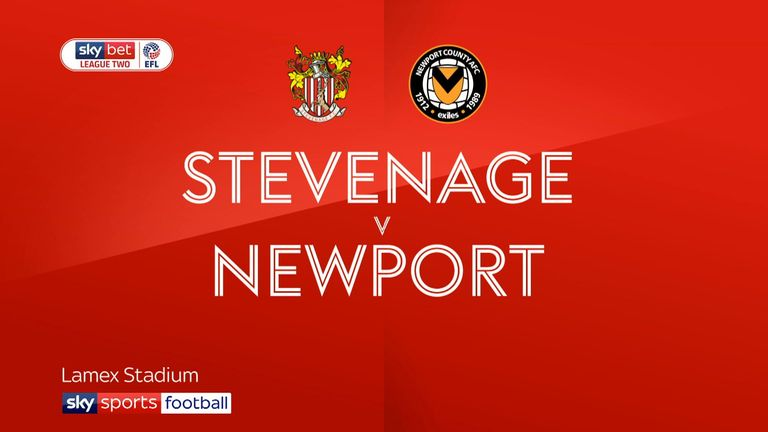 2:10                                            Highlights of the Sky Bet League Two match between Stevenage and Newport