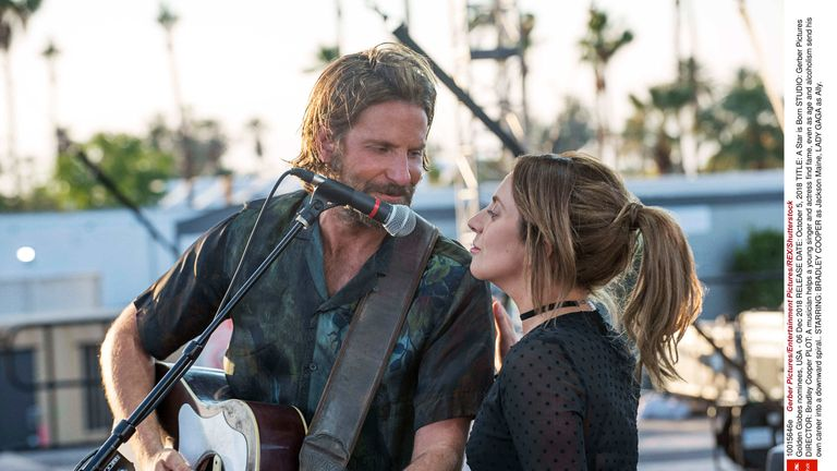 A Star Is Born, starring Lady Gaga and Bradley Cooper, is up for several Oscars