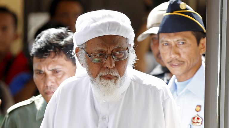 Abu Bakar Bashir, pictured here in 2016
