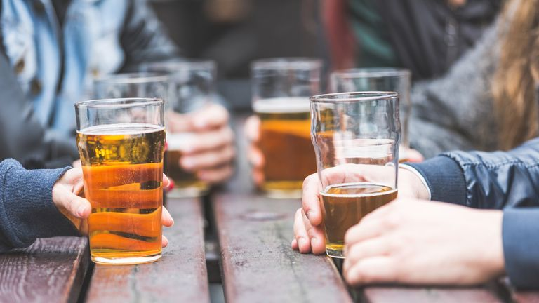 People in the North West spend the most on alcohol. File pic