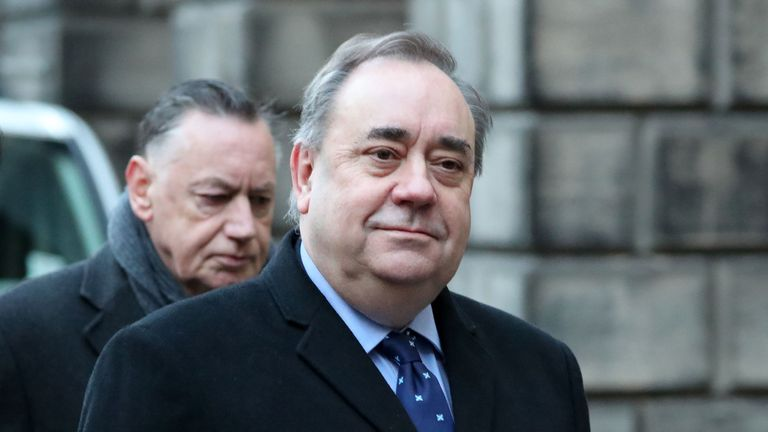 Alex Salmond arriving with advisor Campbell Gunn (left) at the Court of Session in Edinburgh
