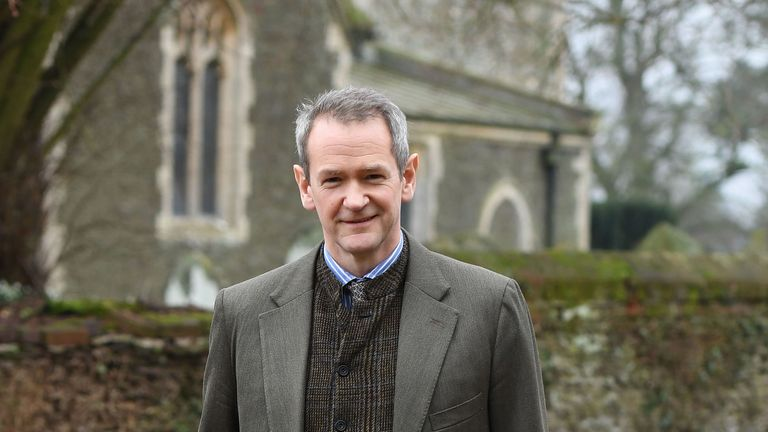 Guest speaker Alexander Armstrong at West Newton Village Hall