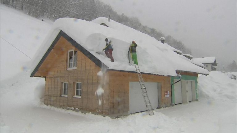 Heavy snow has hit large parts of Europe, with 26 deaths recorded