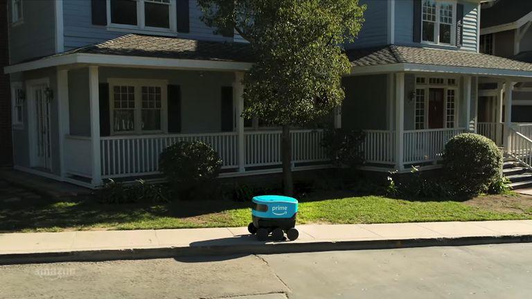 An Amazon Scout robot