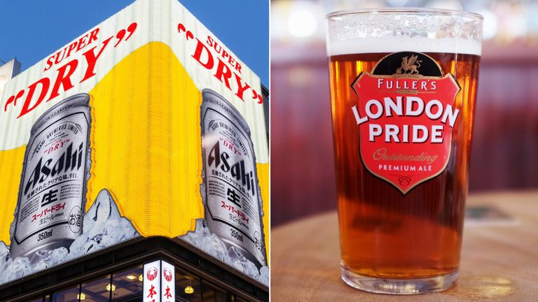Asahi and London Pride