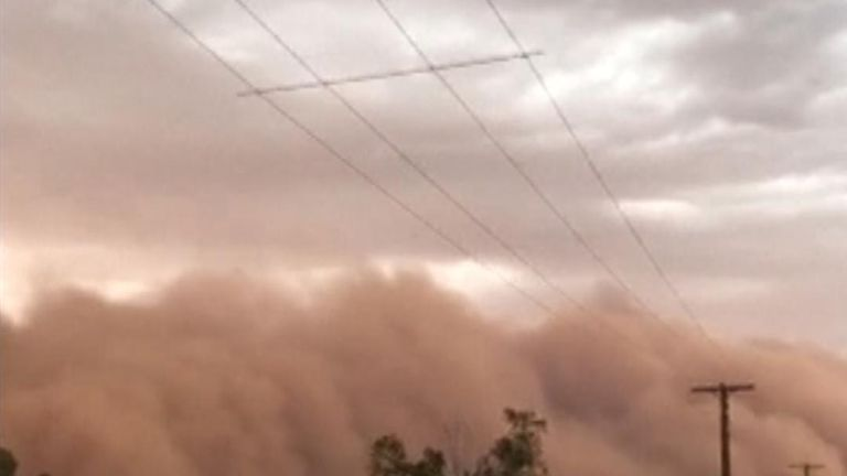 The very Australian-sounding town of Dubbo in New South Wales was hit by a giant dust storm on New Year's Eve.