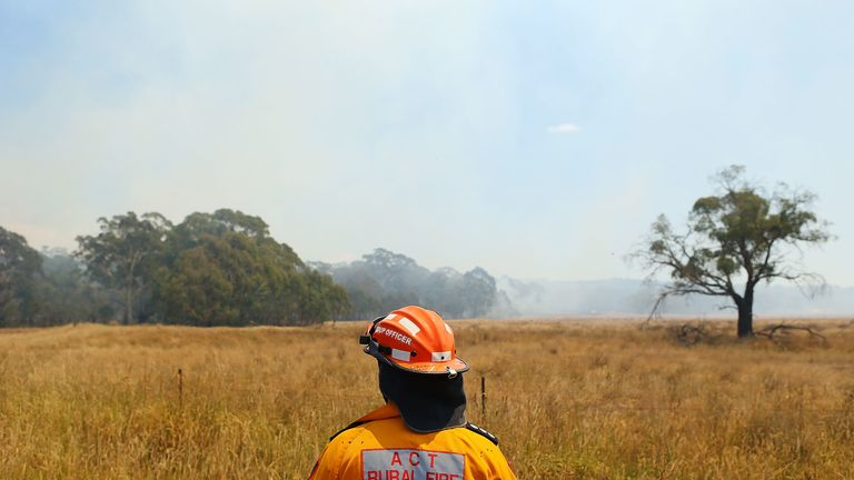 The fire service has been wary of huge bush fires breaking out