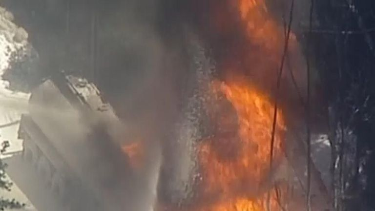 Fuel tanker destroyed in blaze in Australia