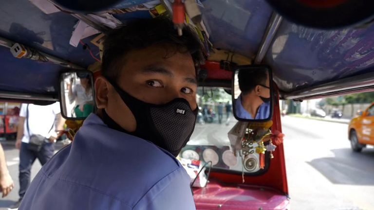 Tuk-tuk driver Suriya Umalee said it is the worst smog he's ever seen
