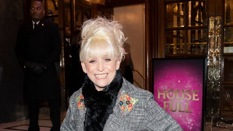 Barbara Windsor attends the premiere of Snow White at London Palladium on December 12, 2018
