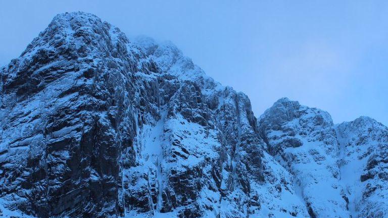 The female climber fell from Carn Dearg