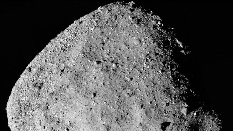 The Osiris-Rex spacecraft took this picture of Bennu on 2 December