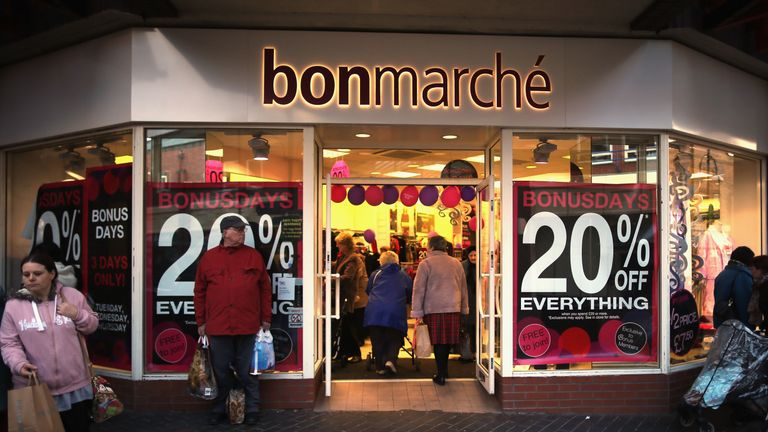 Clothing shop Bonmarche