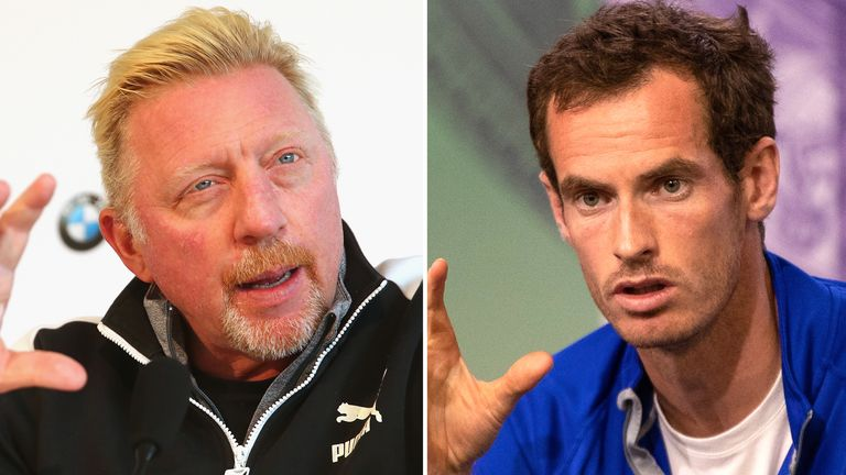 Boris Becker and Andy Murray